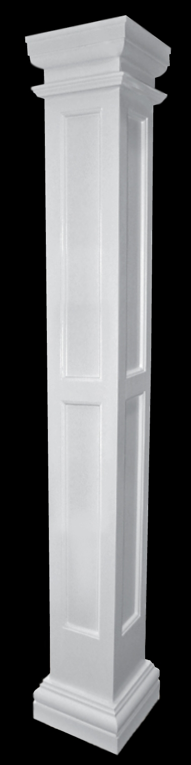chadsworth columns recessed panel fiberglass column with