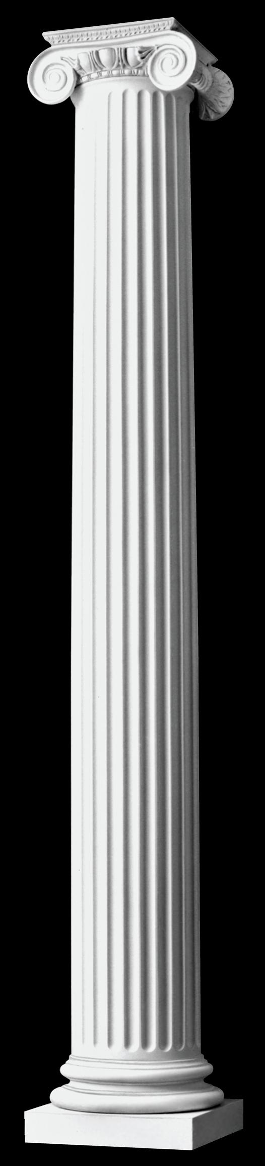 Fluted columns polystone columns roman ionic columns for Fiberglass interior columns