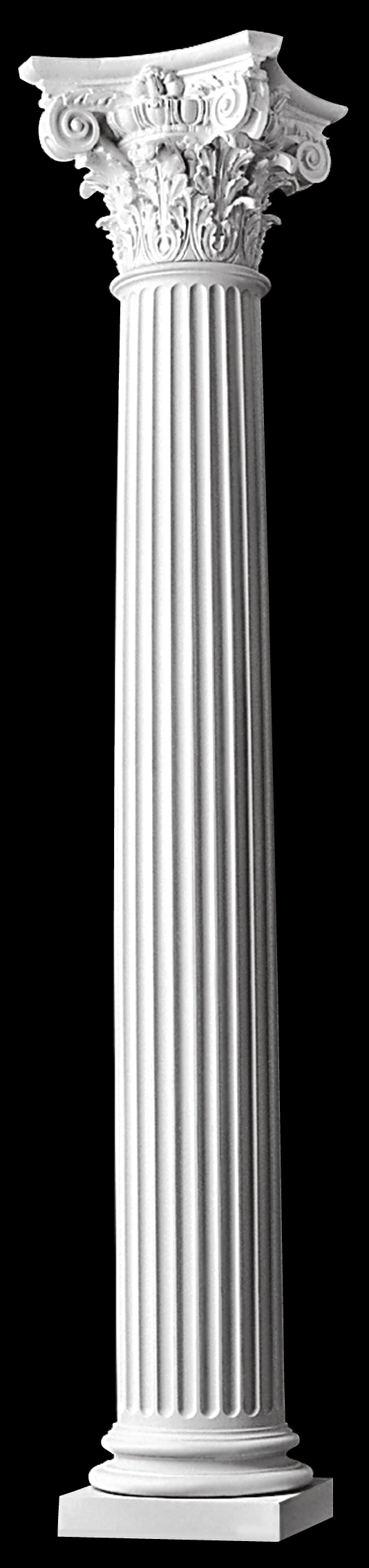 Modern composite fluted columns tapered polystone for Fiberglass architectural columns