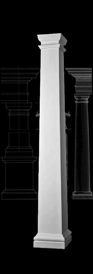 PolyStone® Column | Plain, Square, Tapered Composite Column