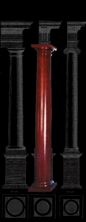 Architectural wood columns stain grade cherry tuscan for Architectural wood columns