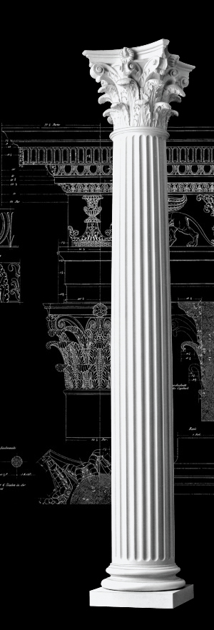 House Columns Product : Fluted roman columns polystone composite corinthian