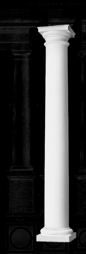 House Columns Product : Polystone column tuscan plain round