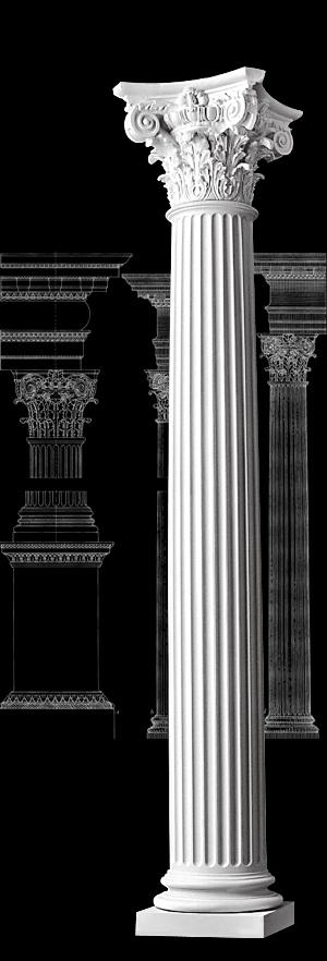 Columns fluted composite order wood columns 1 800 486 2118 for Fluted fiberglass columns