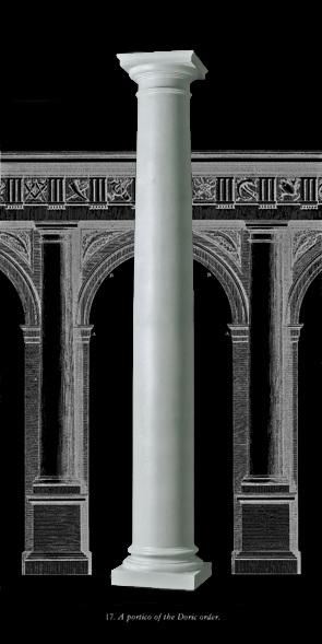Authentic replication wood columns roman doric attic base for Architectural wood columns