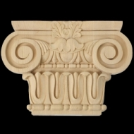 Romani Ionic Style Wood Carved Capital