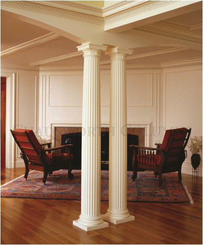 Interior decorative roman doric wood columns this old for Columns in houses interior