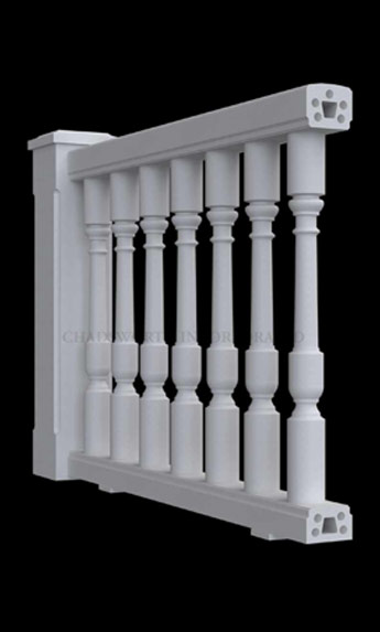 Classic Stone Custom Balustrade System - Balustrade Design Option #3 - Chadsworth Columns: shop.columns.com