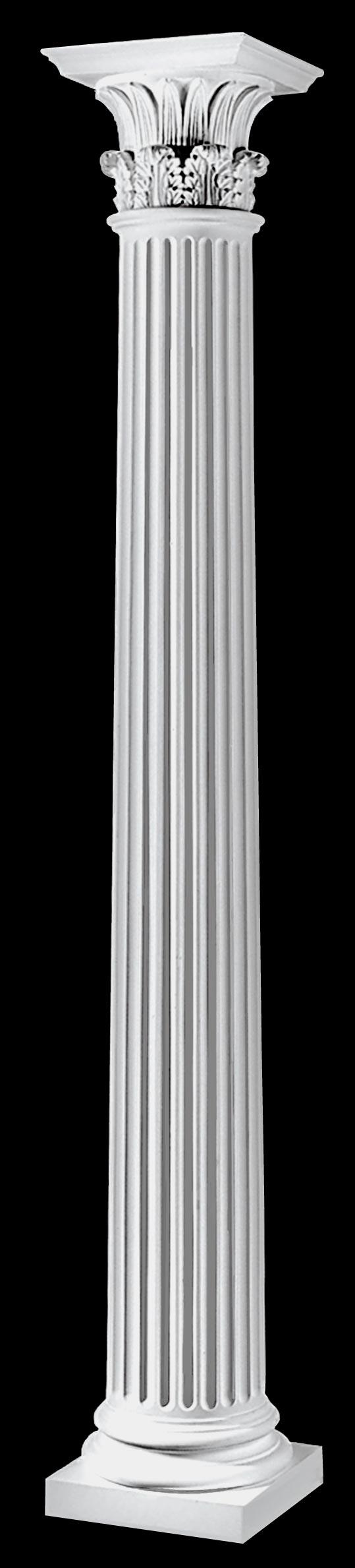 Fluted Architectural Wood Greek Corinthian Columns