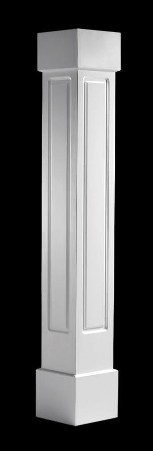 Exterior Porch Columns, Raised Panel Face Style