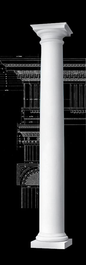 Roman Doric Plain Wood Column