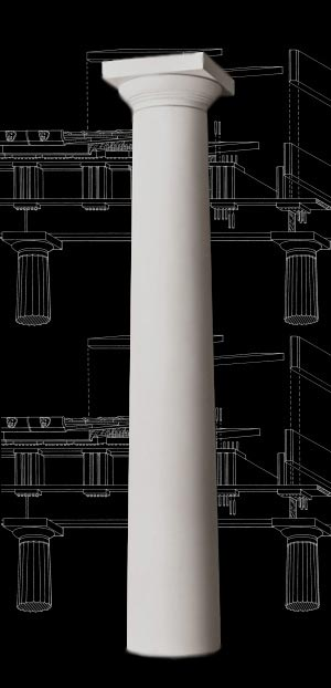 Plain Greek Doric Wood Column