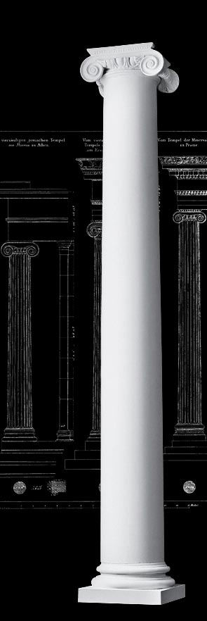 Roman Ionic Architectural Wood Columns
