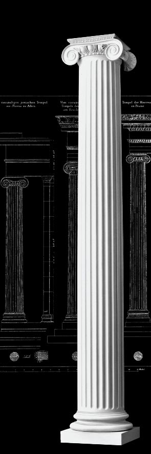 Roman Ionic Fluted Wood Columns