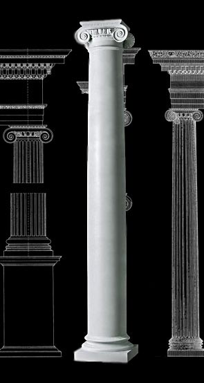 Roman Ionic With Necking Column