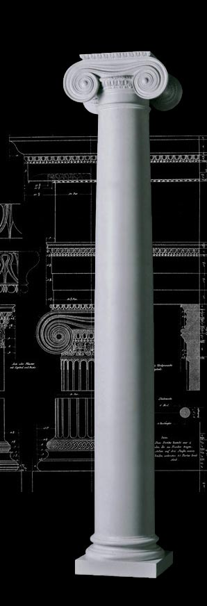 Greek Ionic With Necking Column