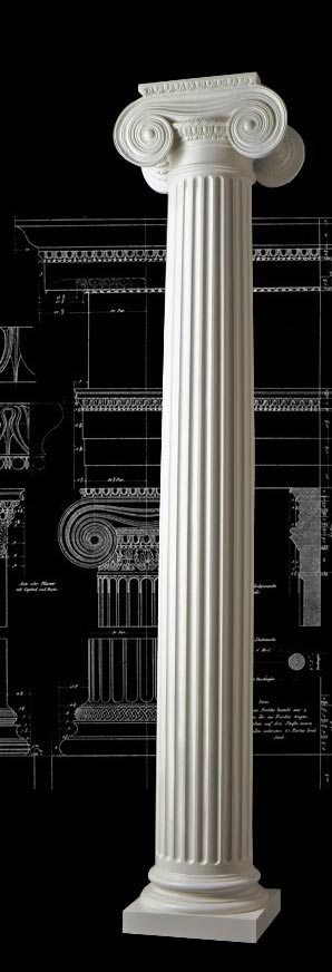 Greek Ionic With Necking Wood Column