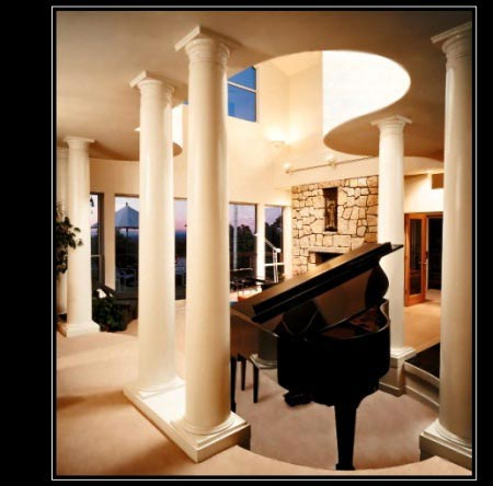 Builders Grade Paintable Wood Columns - Decorative and Structural Interior Wood Columns - Chadsworth Columns - Shop.columns.com - Sales@columns.com - 1-800-486-2118