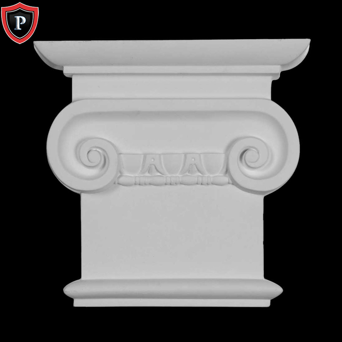 Dimensions In Images//Details XXL Size Load Bearing Composite Resin Paint Ready Roman Ionic Capital for Hollow Column Unfinished