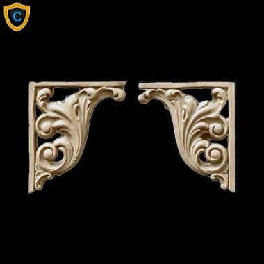 Decorative Composition Stair Brackets | Design #SB-F866-6