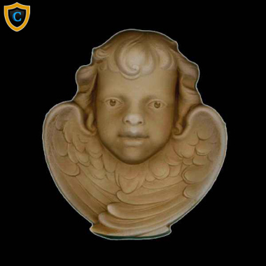 Face Design - Decorative Cherub Design - (W): 5-7/8