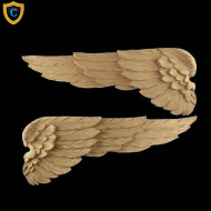Animal Design - Decorative Wing Design - Composition Material - (W): 18