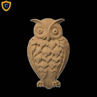Animal Design - Natural Owl Design - Composition Material - (W): 3-1/4