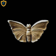 Animal Design - Natural Butterfly Design - Composition Material - (W): 2-3/4