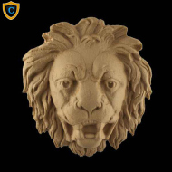Animal Design - Lion's Head Design - Composition Material - (W): 7-1/2