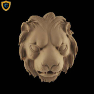 Animal Design - Decorative Lion's Head Design - Composition Material - (W): 3-1/4