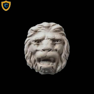 Animal Design - Decorative Lion's Head Design - Composition Material - (W): 2-1/4