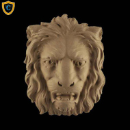 Animal Design - Decorative Lion's Head Design - Composition Material - (W): 5-1/8