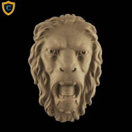Animal Design - Decorative Lion's Head Design - Composition Material - (W): 4-1/4