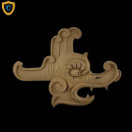 Animal Design - Chinese Serpent Design - Composition Material - (W): 15-1/2