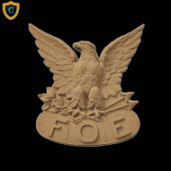 Animal Design - F.O.E. Emblem Design - Composition Material - (W): 3-3/4