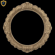 Decorative Round Rosette Design 6-3/8