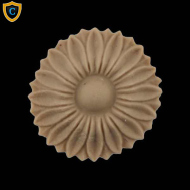 Round Rosettes - Decorative Floral Circle Design - (Dia.): 1-1/8
