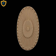 Decorative Rosettes, Decorative Oval Design, Paint-Grade Rosettes