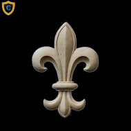 Wall Accents, Renaissance Fleur di Lis Cast Composition Ornament