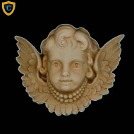 Decorative Cherub Design - (W): 4-1/4
