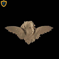 Face Design - Decorative Cherub Design - (W): 7-1/2
