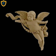 Face Design - Decorative Cherub Design (Facing Left)