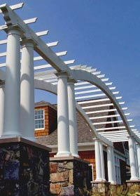 Custom Pergola Designs - Backyard & Exterior Pergolas by Chadsworth Columns: shop.columns.com