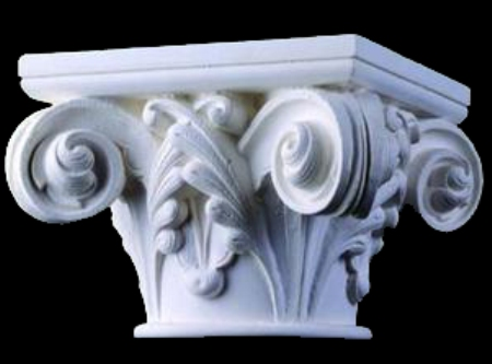 Gothic Notre Dame Round Wood Capital