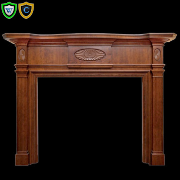 Fireplace Mantel Colonial Style Wood Material Out Dim W 79 X H 58 D 9 Open 52 40 Design Man 92751 6