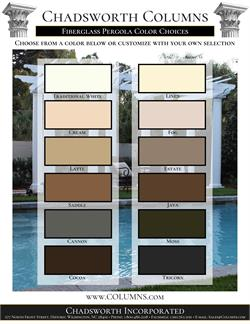 Pergola Color Swatches